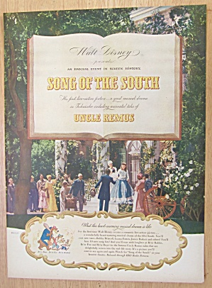 1946 Walt Disney's Song Of The South With The South