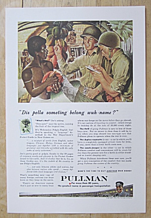 1944 Pullman Railroad with Soldier Talking To Native (Image1)