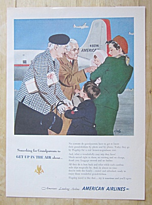 1951 American Airlines With Family Greeting Each Other