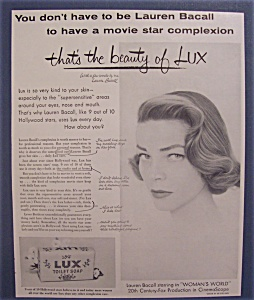 1954  Lux  Toilet  Soap  with  Lauren  Bacall (Image1)