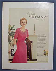 1954 Botany Yarn with Woman Standing In Dress (Image1)