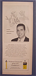 Vintage Ad: 1956 Wildroot Cream-oil With Otto Graham