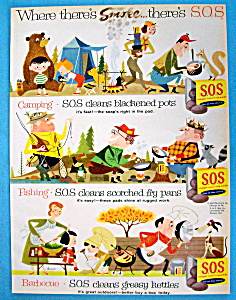 Vintage Ad: 1956 S.O.S. Magic Scouring Pads (Image1)