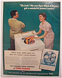 1956  Apex  Wash - A - Matic  with  Tide  Detergent (Image1)