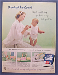 1956 Ivory Snow Soap With A Mother & Child