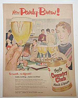 1955 Goetz Country Club Malt Liquor w/ Woman Serving  (Image1)