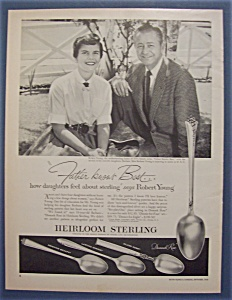 Vintage Ad: 1956 Heirloom Sterling with Robert Young (Image1)