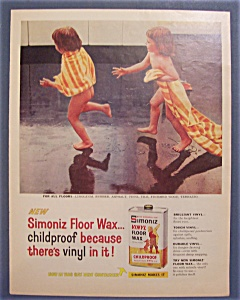 1958 Simoniz Vinyl Floor Wax with Pair of Wet Girls (Image1)