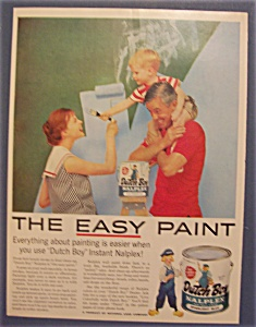 1958 Dutch Boy Nalplex Paint w/Little Boy on Man's Neck (Image1)