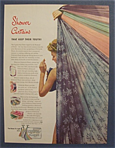 1946  Vinylite  Plastic  Shower  Curtains (Image1)