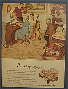Vintage Ad: 1946 Beer Belongs By Mead Schaeffer
