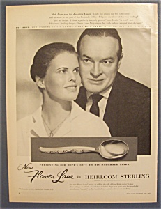 1957 Heirloom Sterling With Bob Hope