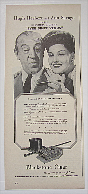 1944 Blackstone Cigar With Hugh Herbert & Ann Savage