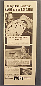 1942 Ivory Soap With Lovelier Hands In 12 Days