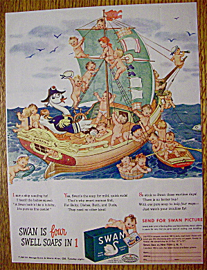 1944 Swan Soap With Babies On A Ship (Image1)