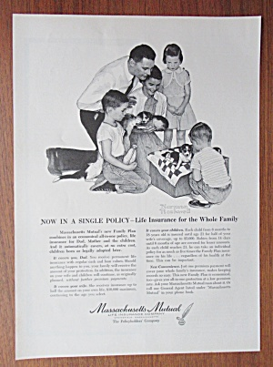 1958 Massachusetts Mutual w/Family By Norman Rockwell (Image1)