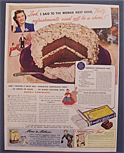 1940 Baker's Chocolate