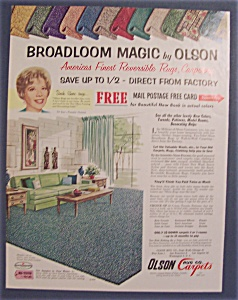 1963  Olson  Rugs  with  Dinah  Shore (Image1)