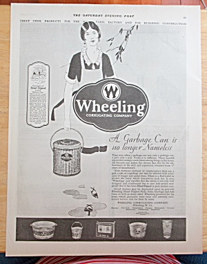 1928 Wheeling Corrugating Company with Garbage Can (Image1)