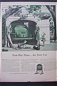 1943 Quaker State Motor Oil With Post War Plans