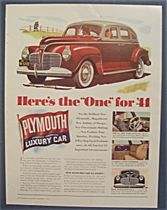 Vintage Ad: 1940 Plymouth