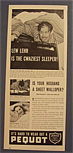 1940 Pequot Sheets With Lew Lehr
