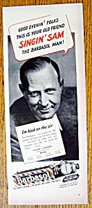 Vintage Ad: 1943 Barbasol Shaving Cream w/ Singing Sam (Image1)