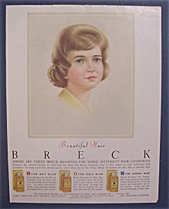 1963 Breck Shampoo with Woman with Brown Hair (Image1)