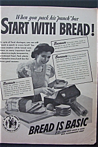 1943 Bread Is Basic with Woman Packing Lunch  (Image1)