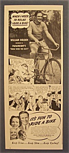 1940 Ride A Bike With William Holden