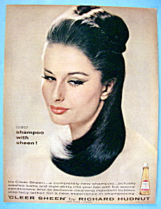 Vintage Ad: 1963 Cleer Sheen By Richard Hudnut (Image1)