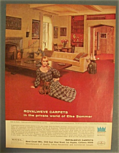 1968 Royalweve Carpets With Elke Sommer
