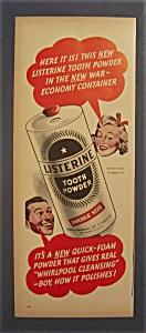 1943 Listerine Tooth Powder w/Man & Woman Talking (Image1)