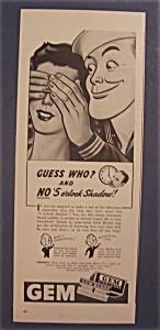 Vintage Ad: 1943 Gem Blades (Image1)