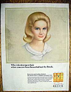 1965 Breck Shampoo with a Beautiful Blonde Haired Woman (Image1)