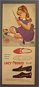1965 Lazy Bones Shoes with Little Girl Painting Eggs (Image1)