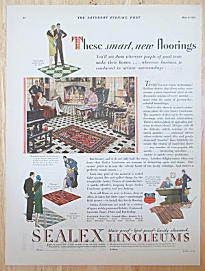 1929 Sealex Linoleum with Smart New Floorings  (Image1)