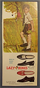 1966 Lazy Bones Shoes with Little Boy Holding Flowers (Image1)