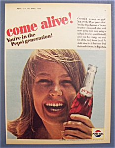 Vintage Ad: 1965 Pepsi - Cola (Image1)