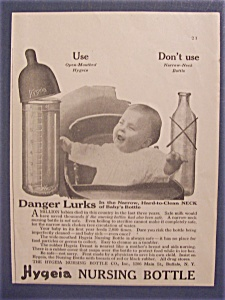 Vintage Ad: 1919  Hygeia  Nursing  Bottle (Image1)