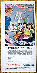 Vintage Ad: 1962 Dennison Party Decorations (Image1)