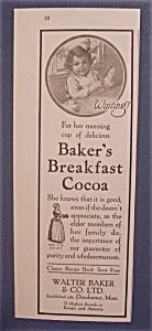 1916  Baker's  Breakfast  Cocoa (Image1)