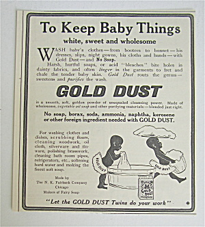 1907 Gold Dust With To Keep Baby Things