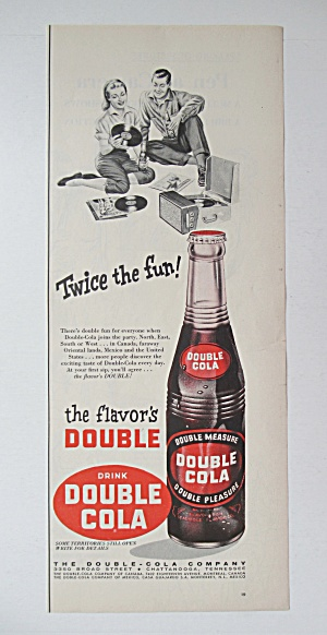 1956 Double Cola with a Bottle of Double Cola  (Image1)