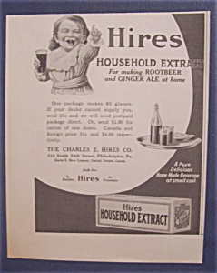 Vintage Ad: 1923 Hires Household Extract