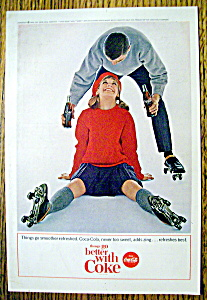 1964 Coca-Cola (Coke) with Woman & Roller Skates (Image1)