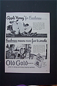 1943 Old Gold Cigarettes w/ Soldier & His Girl Smoking (Image1)