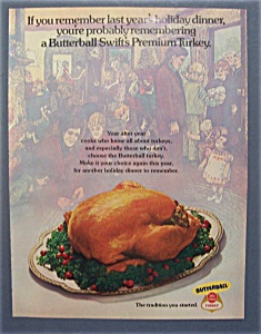 1974 Swift Premium Butterball Turkey with Turkey  (Image1)