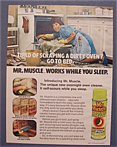 1974 Mr. Muscle Overnight Oven Cleaner
