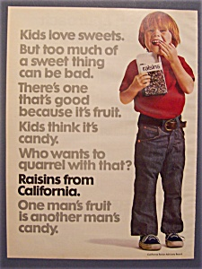 1974 Raisins From California